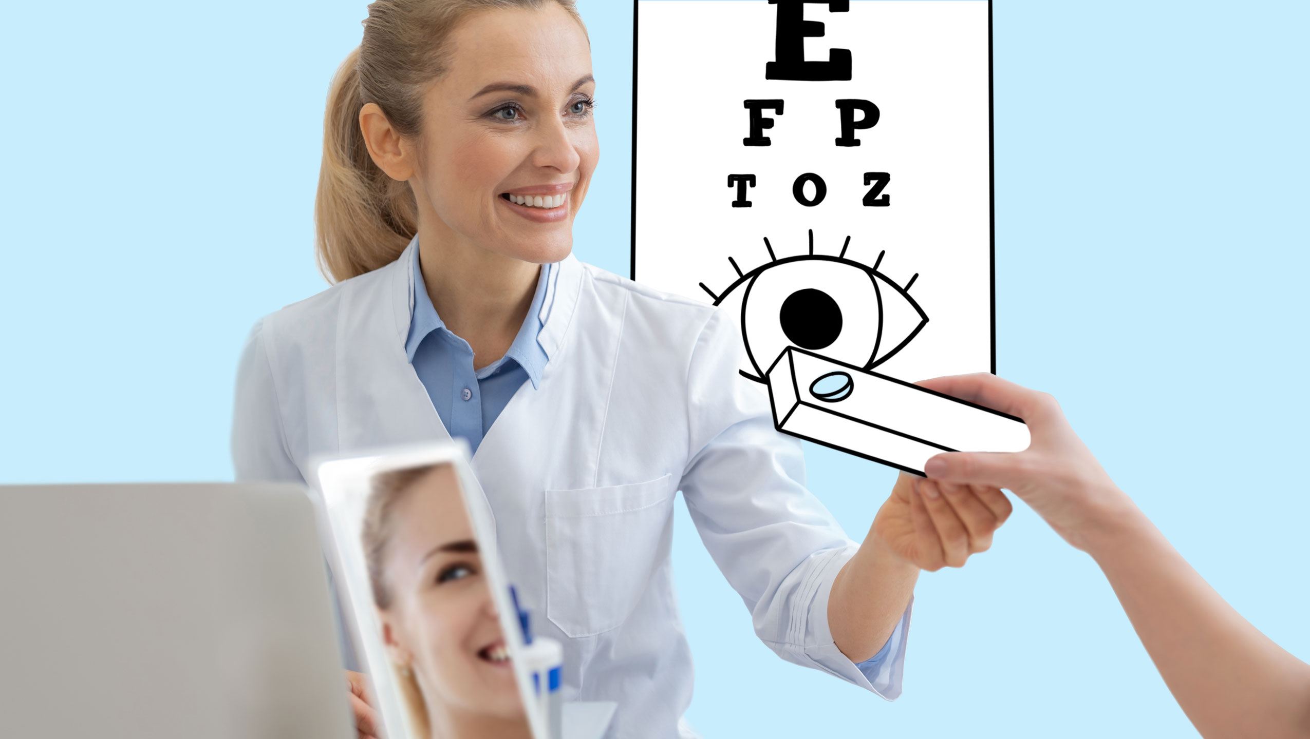Trial with eye care professional