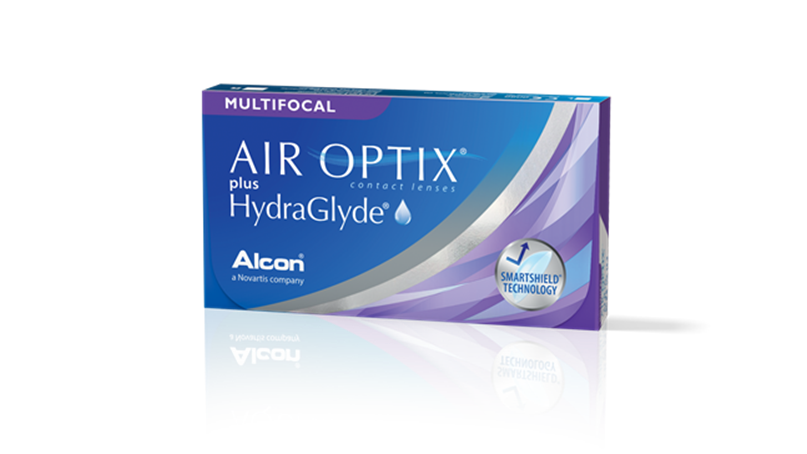 AIR OPTIX® plus HydraGlyde® Multifocal pack shot